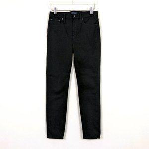 J. Crew Black High Rise Toothpick Stretch Jeans